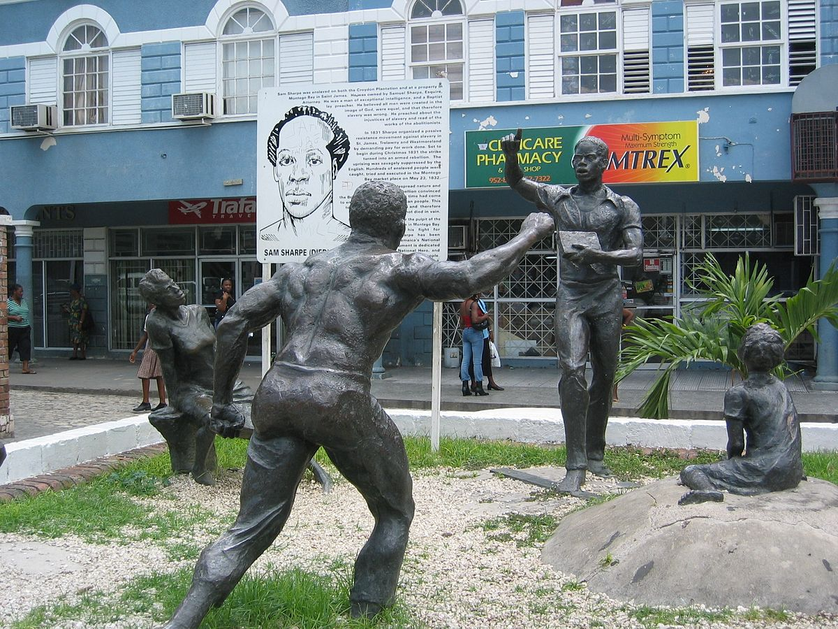 sam sharpe rebellion Named after the abolitionist hero, sam sharpe, who encouraged a non-violent means to ending slavery, sam sharpe square in downtown montego bay now serves as a point of interest for all who come to learn about jamaica's rich history or simply enjoy the pastime of people watching here you'll find.