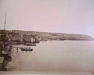 Samsun Castle - Seaside walls of Samsun Castle (1870).