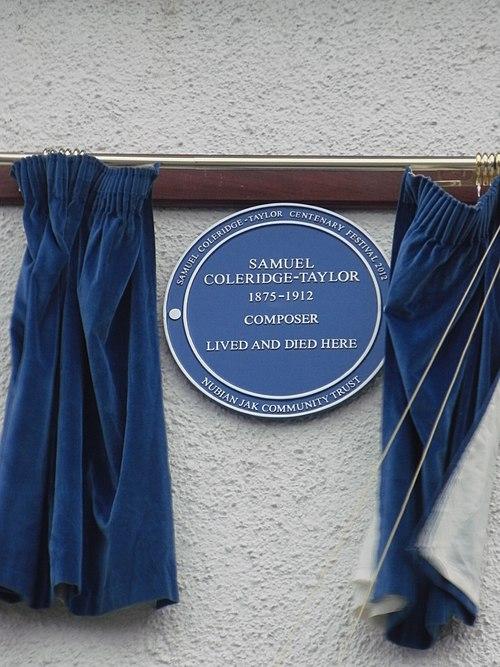 Samuel coleridge taylor croydon plaque