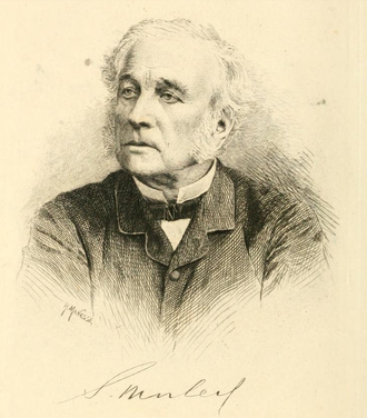 Samuel Morley (MP) - Samuel Morley M.P. An etching signed H. Manesse published in his biography, 1887.