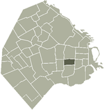 Location of San Cristóbal within Buenos Aires
