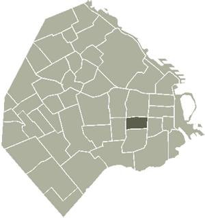 San Cristóbal, Buenos Aires - Image: San Cristob Buenos Aires map