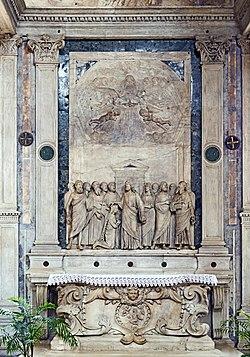 San Giovanni Grisostomo (interno) - pala marmorea di Tullio Lombardo.jpg