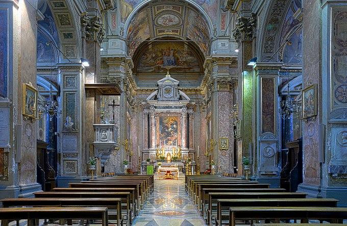 San Rocco all'Augusteo (Rome) - Interior HDR
