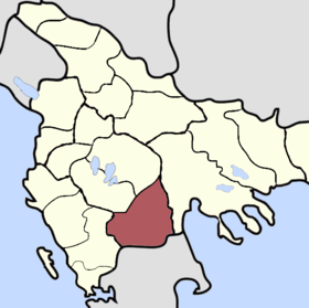 Location of Serfiçe Sancağı