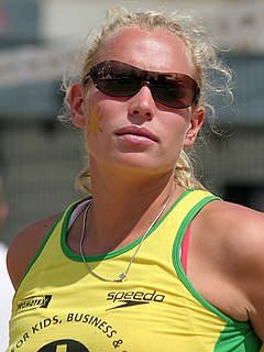 Sanne Keizer Dutch beach volleyball player