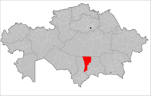 Location of Sarysu District in Kazakhstan