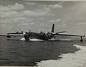 Saunders-Roe Princess - A Saunders-Roe SR.45 Princess during a taxing run