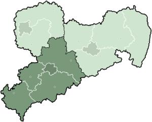 Chemnitz (region) - Image: Saxony Direktionsbezirk Chemnitz