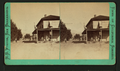 Scenery of house, horse, man standing, women and child standing, from Robert N. Dennis collection of stereoscopic views.png
