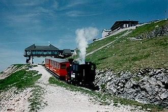 Schafberg Railway - Image: Schafbergbahn Summit of Schafberg