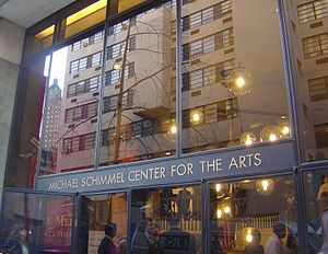 Michael Schimmel Center for the Arts - Main entrance, Spruce Street