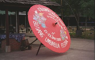 San Kamphaeng District - Traditional umbrella from the village of Bo Sang
