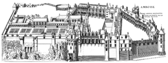 Amboise conspiracy - The castle of Amboise at the time of the events.