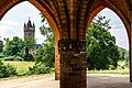 Schlosspark Babelsberg - Gerichtslaube - Blick zum Flatowturm - DSC4246.jpg