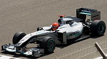 Photo de la Mercedes MGP W01 de Schumacher à Sakir