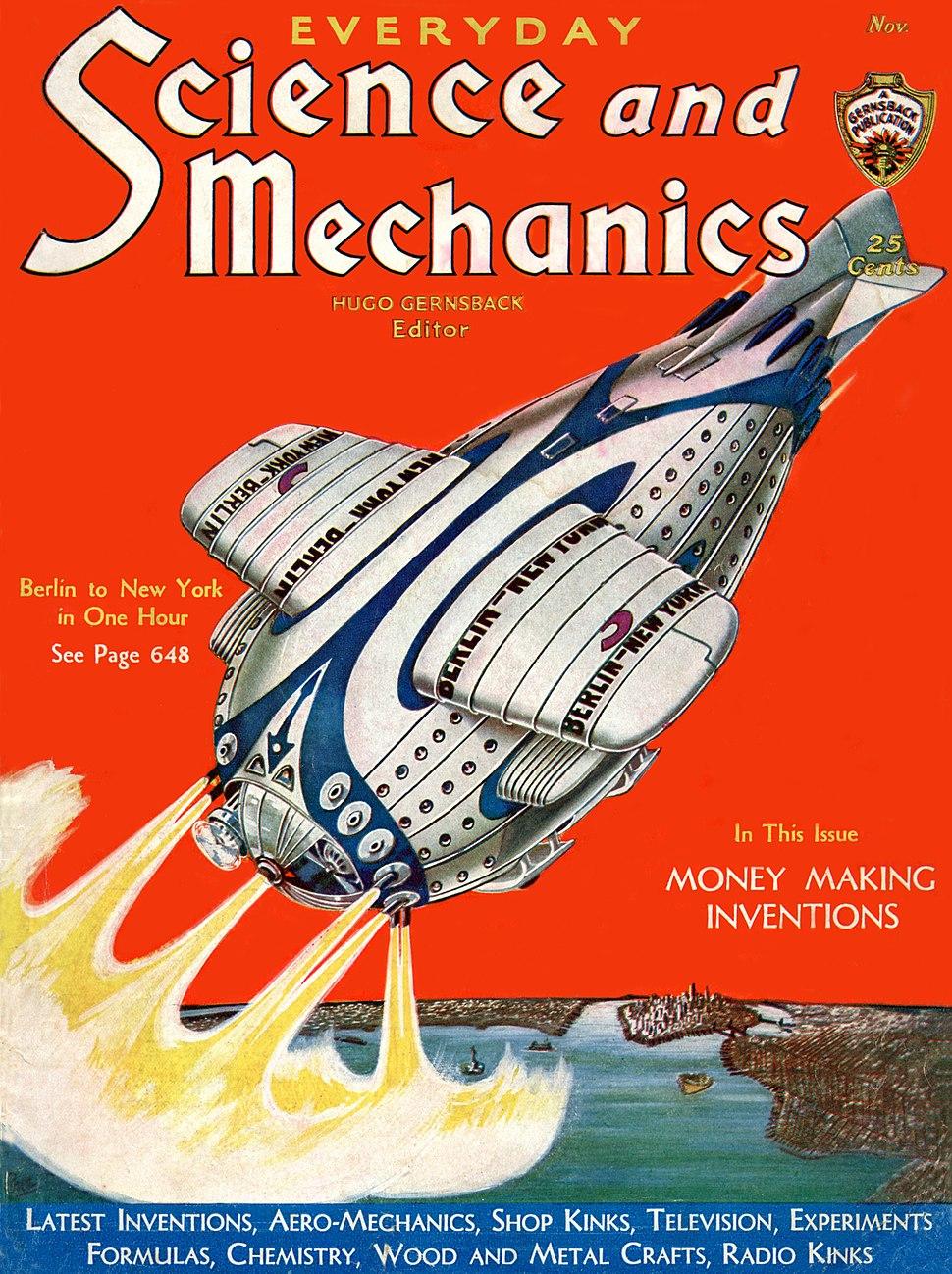 Science and Mechanics Nov 1931 cover