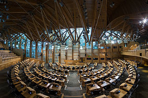 Scottish independence referendum, 2014 - Debating chamber of the Scottish Parliament