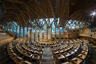 2014 Scottish independence referendum - Debating chamber of the Scottish Parliament