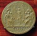Scuola romana, medaglia di pio IV, cristo coi dottori nel tempio.JPG