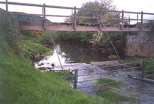 River Derwent, Yorkshire - The Sea Cut Weir drains the Derwent floodwaters to the sea at Scalby.