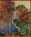 Sea from a High Promontory by Rubaldo Merello (1872-1922), 1910-1914, oil on cardboard - Accademia Ligustica di Belle Arti - DSC02293.JPG