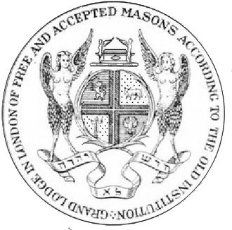 """Antient Grand Lodge of England - Seal of the """"Antients"""" Grand Lodge, based on a drawing by Judah Leon Templo."""