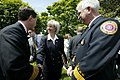Secretary Gale Norton greets firefighters after the President's remarks on his Healthy Forests Initiative.jpg