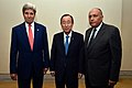 Secretary Kerry Meets With U.N. Secretary-General Ban, Egyptian Foreign Minister Shoukry to Discuss Gaza Cease-Fire Proposals (14721713436).jpg