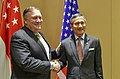 Secretary Michael R. Pompeo shakes hands with Singaporean FM Balakrishnan (28898181977).jpg