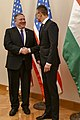 Secretary Pompeo Participates in a Bilateral Meeting With Hungarian Foreign Minister Szijjarto - 32121253897.jpg
