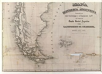 Beagle Channel cartography since 1881 - Image: Seelstrang.1875