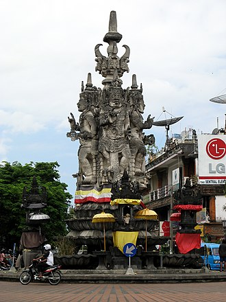 Bali - Kandapat Sari statue in Semarapura, one of the old settlements in Bali. Historically, Balinese art and culture is born and based in this town.