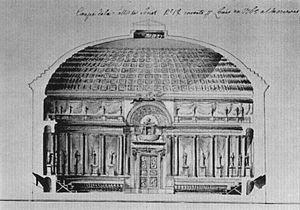 Senate of Poland - Unrealised (1765) plans for a new senate chamber at the Royal Castle in Warsaw