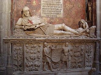 """Sigüenza - The sepulchre of Martín Vázquez de Arce, with """"el doncel de Sigüenza"""""""