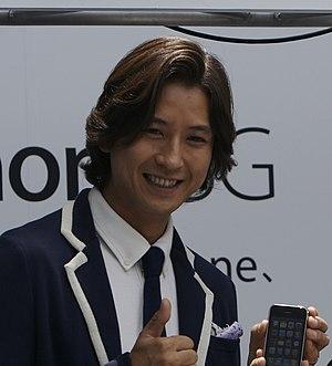 Shōsuke Tanihara - Shōsuke Tanihara promotes iPhone 3G, in 2008