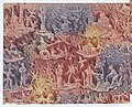 Sheet with figures in landscapes in red, purple, and yellow Met DP887033.jpg