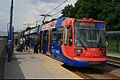 Sheffield light rail, the Supertram, at Sheffield station stop. - panoramio.jpg