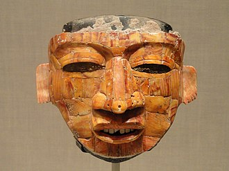 Mexican mask-folk art - Mask from Teotihuacan at the Art Institute of Chicago.