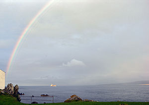 Schiff vor Greencastle, Lough Foyle (2004)