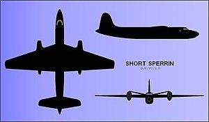 Short Sperrin - Orthogonal views (silhouette)