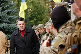 Freedom (political party) - Ukrainian volunteer battalion fighting pro-Russian separatists, 30 September 2014