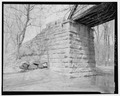 Side view of north abutment. - River Vale Bridge, Spanning White River on County Road 27, Bedford, Lawrence County, IN HAER IND,47-BED.V,2-16.tif