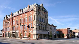 Sidney, Ohio - Sidney downtown, with the municipal courts in the Monumental Building.