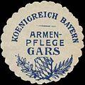 Siegelmarke Armenpflege Gars K. Bayern W0352285.jpg