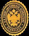 Siegelmarke K.K. Forst- und Domänen-Verwaltung Grundlsee W0317011.jpg