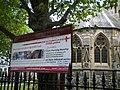 Sign, St Luke's Church, Redcliffe Gardens SW10 - geograph.org.uk - 1908502.jpg