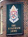 Sign for the Wykeham Arms - geograph.org.uk - 1584788.jpg