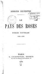 Armand Silvestre: Le Pays des roses