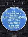 Sir Anthony Hope Hawkins (ANTHONY HOPE) 1863-1933 Novelist lived here 1903-1917.jpg